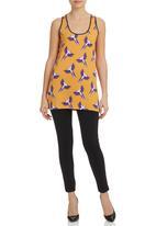 BellField - Parrot-print Vest Multi-colour