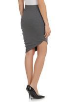 TART - Asymmetrical Drape Skirt Grey