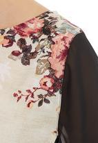 LABEL FEMME - Contrasting Tunic Multi-colour