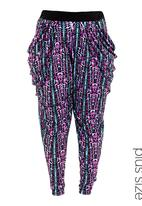 City Chic - Sonic harem pants Multi-colour