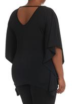 City Chic - Beaded Beauty Top Black