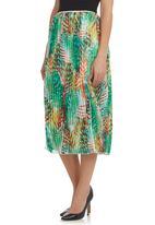 STYLE REPUBLIC - Floral-print pleated midi skirt Multi-colour