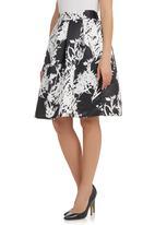 STYLE REPUBLIC - Japanese Floral Hoop Skirt Black
