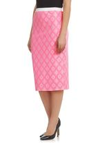STYLE REPUBLIC - Lace Pencil Skirt Pink