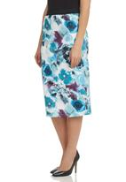 STYLE REPUBLIC - Printed Pencil Skirt Multi-colour