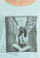 STYLE REPUBLIC - Rock & Roll T-shirt Turquoise