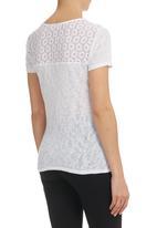 edge - Lace-inset T-shirt White