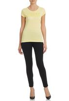 GUESS - Mirror Logo T-Shirt Yellow