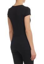 GUESS - Mirror Logo T-Shirt  Black