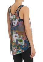 Paige Smith - Print Vest With Bralet Multi-colour