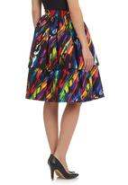 YADAH EXCLUSIVE DESIGNS - Paint Splash Print Double Peplum Multi-colour