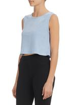 All About Eve - Therma-colour Crop Top Blue