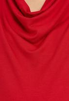 Cherry Melon - Sleeveless Cowl Top Red