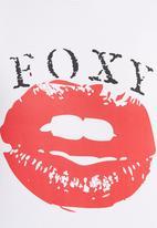 Foxy - Foxy Lips T-shirt White