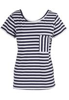 All About Eve - Come Back Striped T-Shirt Black/White