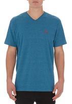555 Soul - Kai V-neck T-shirt Mid Blue