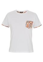 STYLE REPUBLIC - Floral-pocket T-shirt White
