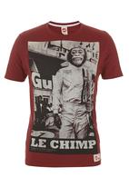 Scam - Le Monkeys Tee Red