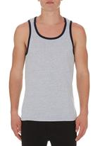 edge - Printed vest Navy
