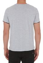 STYLE REPUBLIC - Floral-pocket T-shirt Grey