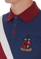 Fire Fox - Diagonal Stripe Golfer Navy
