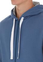 edge - Zipped track top Blue