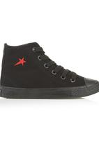 SOVIET - Hi-cut Canvas Sneakers Black
