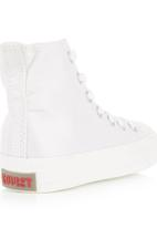 SOVIET - Vulcanized Hi-cut Lace-ups White
