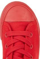 SOVIET - Hi-cut Canvas Sneakers Red