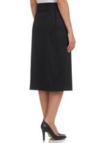 edit - Asymmetrical Midi Skirt Black