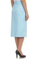 edit - Asymmetrical Midi Skirt Pale Blue