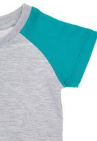 Charlie + Sophie - Colourblock T-shirt Grey
