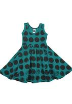 Charlie + Sophie - Spotted Dress Green