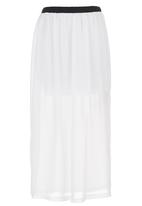 STYLE REPUBLIC - Chiffon Maxi Skirt Milk