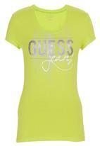 GUESS - Rhinestone T-shirt Green