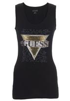 GUESS - Sequin Tank Black
