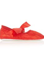 Smitten - Lace Shoes Red