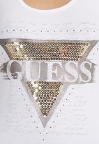 GUESS - Sequin Tank White