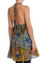 AfroDizzy - Halterneck Tunic Multi-colour
