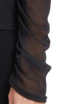 & true - Sheer Round-neck Blouse Black
