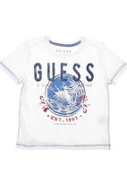 GUESS - Sunrise Palm T-shirt White