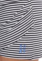 Roxy - Bodycon Skirt with Stripes Black/White