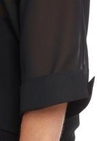 edit - V-neck Blouse Black