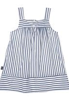 Phoebe & Floyd - Stripe Dress with Bow Blue
