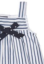 Phoebe & Floyd - Stripe Dress with Bow Blue