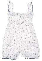 Eco Punk - Baby Romper with Print White/Navy