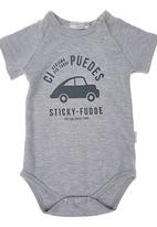Sticky Fudge - Cruz Babygro Grey