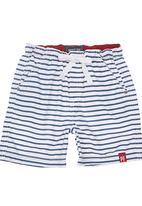 Phoebe & Floyd - Wide Stripe Surf Shorts Blue