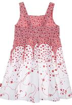 Phoebe & Floyd - Floral Ombre-print Dress Red