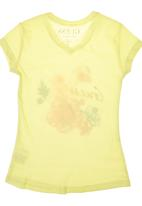 GUESS - Girls Tropical Print T-shirt Yellow